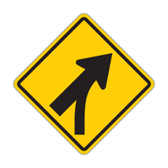 W4-5 Entering Roadway Merge
