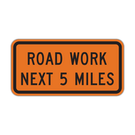 G20-1 Road Work Next XX Miles
