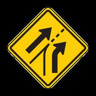 W4-6 Entering Roadway Added Lane
