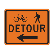 M4-9a Bike/Pedestrian Detour
