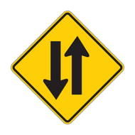 W6-3 Two-Way Traffic