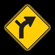 W1-10 Horizontal Alignment / Intersection