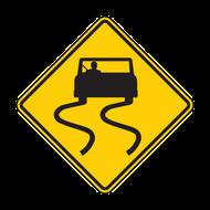 W8-5 Silppery When Wet