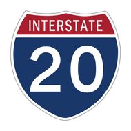 M1-1 Interstate Route Sign (1 or 2 digits)