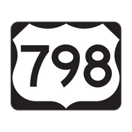 M1-4 U.S. Route Sign (3 digits)