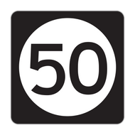 M1-5 State Route Sign (1 or 2 digits)