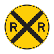 W10-1 Grade Crossing Advance Warning