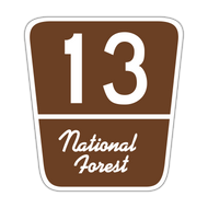 M1-7 Forest Route Marker