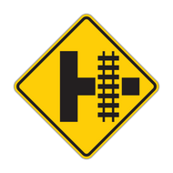 W10-3 Railroad Advance Warning