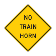 W10-9 No Train Horn