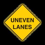 W8-11 Uneven Lanes