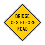 W8-13 Bridge Ices Before Road