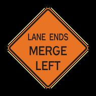 W9-2 Lane Ends Merge (Construction)