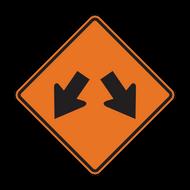 W12-1 Double Arrow (Construction)