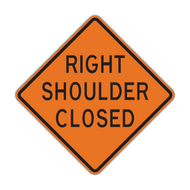W21-5a Shoulder Closed