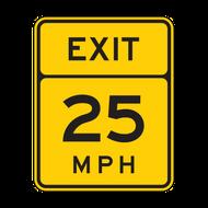 W13-2 Advisory Exit Speed