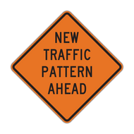W23-2 New Traffic Pattern Ahead (Construction)