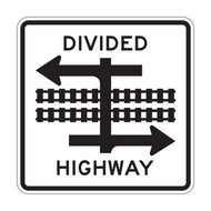R15-7 Light Rail Divided Highway Symbol