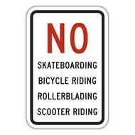 NOS No Skateboarding, Bicycle Riding, Rollerblading, Scooter Riding