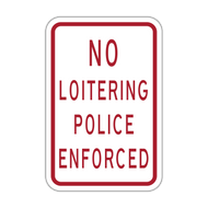 HR7-120 No Loitering Police Enforced