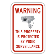 WVS-C Warning This Property Is Protected by Video Surveillance
