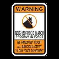 WNF Warning Neighborhood Watch Program in Force