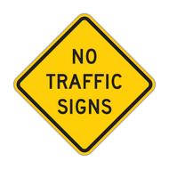 W18-1 No Traffic Signs