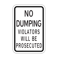 HR7-123 No Dumping Violators Will Be Prosecuted