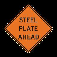 W8-24 Steel Plate Ahead