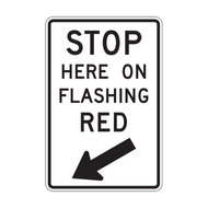 R10-14b Stop Here on Flashing Red