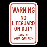 WNL Warning No Lifeguard on Duty
