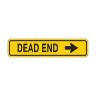 W14-1a Dead End (with arrow)