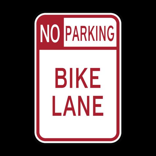 R7-9 No Parking Bike Lane
