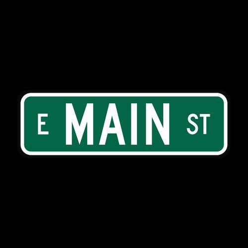 """9"""" Flat Aluminum Street Name Sign"""