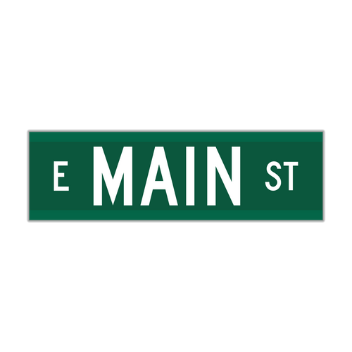 """9"""" Extruded Aluminum Street Name Sign"""