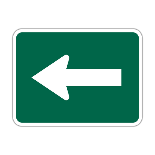 M6-1 Bicycle Route Arrow