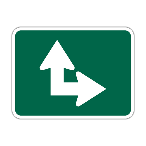 M6-6 Bicycle Route Arrow
