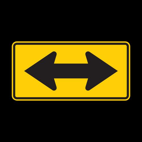 W1-7 2-Direction Large Arrow