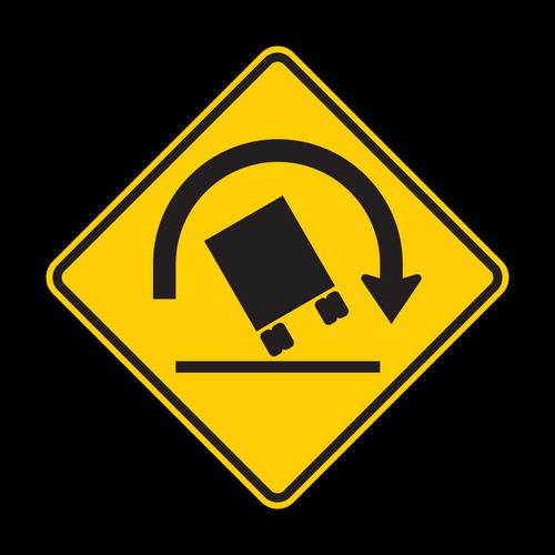 W1-13 Truck Rollover