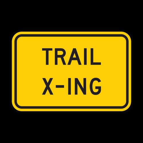 W11-15P Trail Crossing