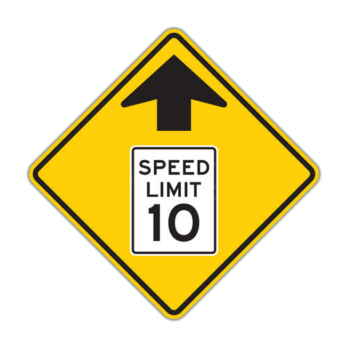 W3-5 Reduced Speed Limit Ahead