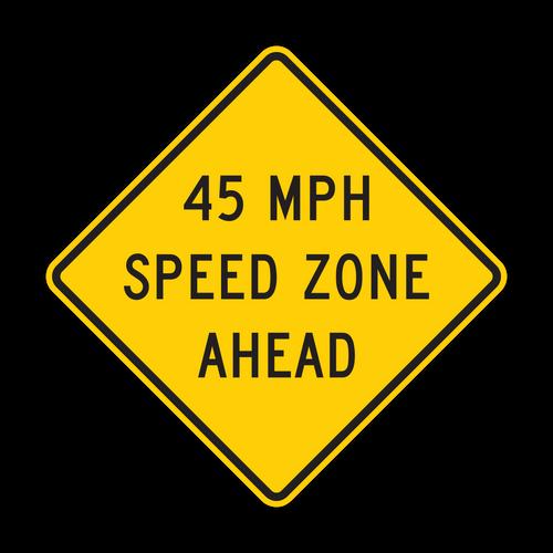 W3-5a XX MPH Speed Zone Ahead