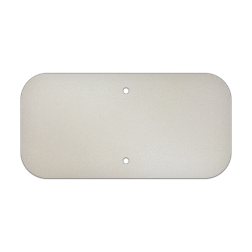 "12"" x 6"" Aluminum Sign Blank - Standard Punch"