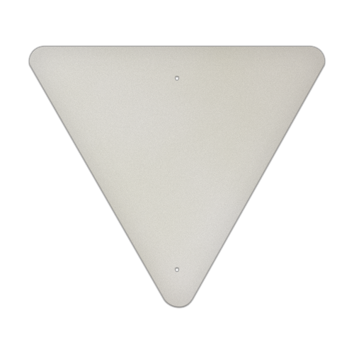 "30"" Triangle Aluminum Sign Blank"