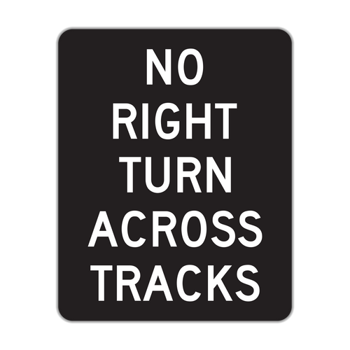 R3-1a No Right Turn Across Tracks