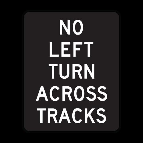 R3-2a No Left Turn Across Tracks