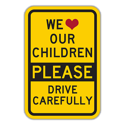 WLC-Y We Love Our Children Please Drive Carefully