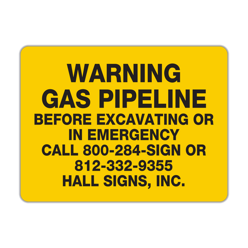LLC-2 Warning Gas Pipeline