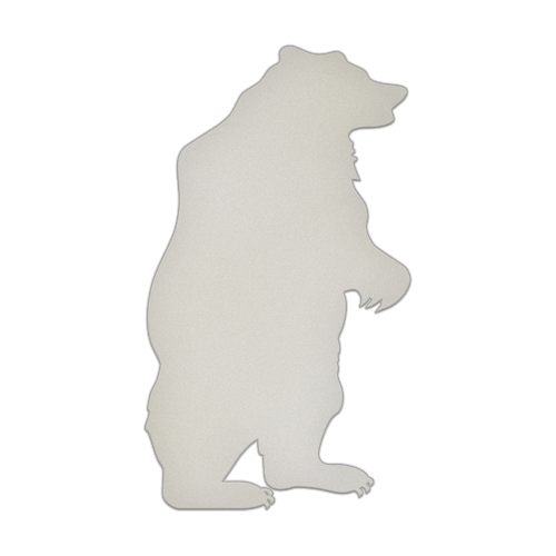 "10"" x 18"" Specialty Shape Aluminum Sign Blank - Bear"