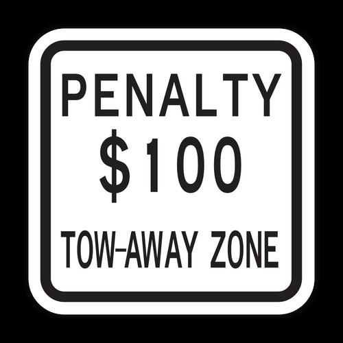 NJPEN Penalty $XXX Tow-Away Zone
